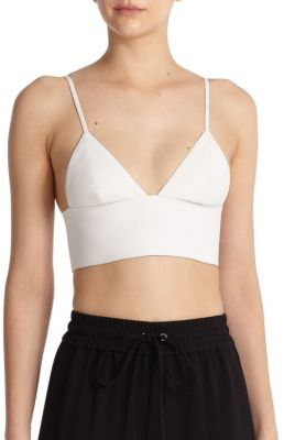 e625890ef22a88 ... Alexander Wang T By Leather Cropped Top