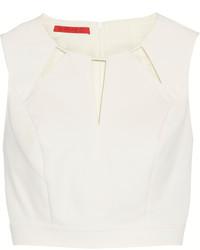 Tamara Mellon Cutout Stretch Cotton Blend Cropped Top