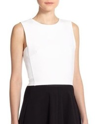 Theory Pagia Stretch Cotton Cropped Top