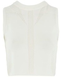 Topshop Stitchy Panel Wrap Knit Crop Top