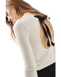 Topshop Tie Back Crop Top