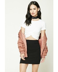 Forever 21 Twist Front Crop Top