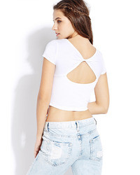 Forever 21 Twisted Cutout Crop Top