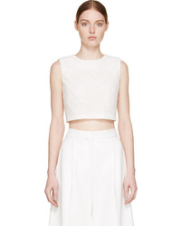 Edit White Cut Out Crop Top