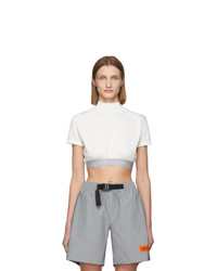 Heron Preston White Style Crop T Shirt