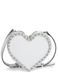 Rebecca Minkoff Chain Heart Crossbody Bag White