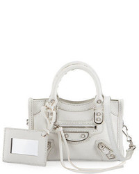 Balenciaga Classic Metallic Edge Nano City Aj Crossbody Bag