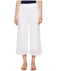 Mod-o-doc Cotton Eyelet Wide Leg Crop Pants Casual Pants