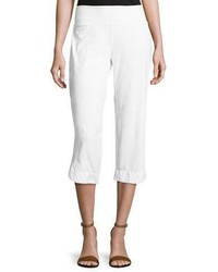 Eden pull on capri pants white medium 3651687
