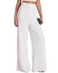 High waist wide leg crepe trousers medium 3778264