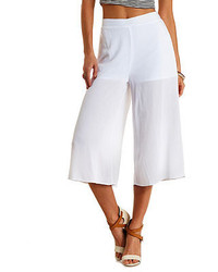 Charlotte Russe High Waisted Gauze Culottes