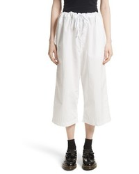 Tricot washed cotton wide leg crop pants medium 4107421