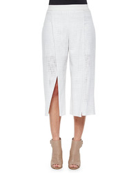 Elie Tahari Wylie Cotton Eyelet Culottes