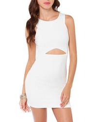 White Cutout Bodycon Dress