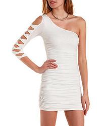 c9d82c87c9 ... Charlotte Russe One Shoulder Glitter Bodycon Dress