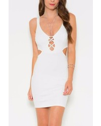 Solemio Cutout Bodycon Mini Dress