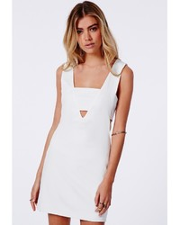 fde18168b99 ... Missguided Fay Cut Out V Neck Bodycon Dress White ...