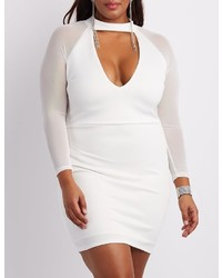 Charlotte Russe Plus Size Mesh Sleeve Bodycon Dress