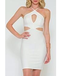 Solemio Sole Mio Cutout Bodycon Dress