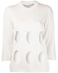 Comme des garcons comme des garons sheer cutout sweater medium 70537