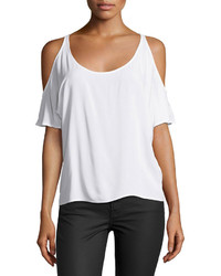 C&C California Cold Shoulder Scoop Neck Tee Optic White