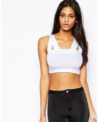 Asos Crop Top With Thick Double Straps