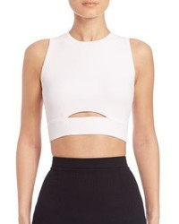 Carven Cutout Cropped Top