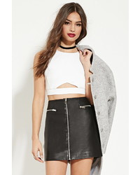Forever 21 Cutout Front Crop Top