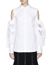 Cmeo collective surrender bow sleeve poplin shirt medium 6458503