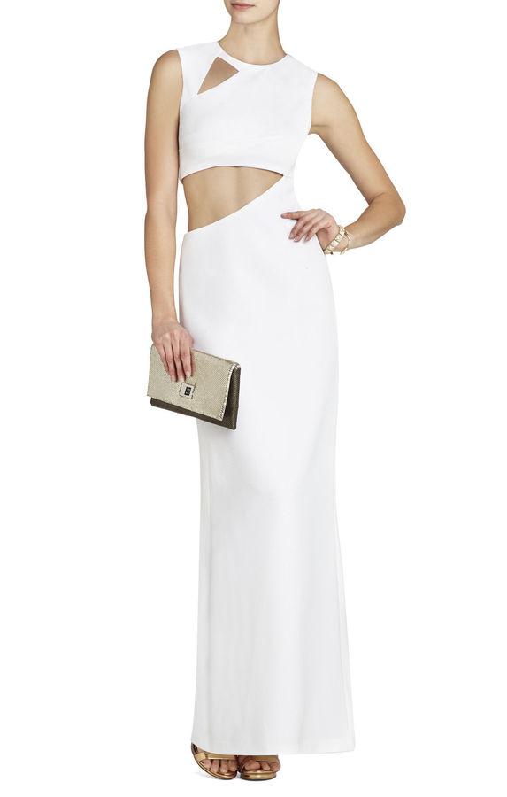 BCBGMAXAZRIA Kimora Sleeveless Cutout Gown | Where to buy & how to wear