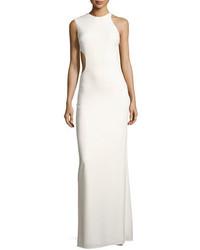 Heritage asymmetric sleeveless cutout back crepe gown medium 4400690