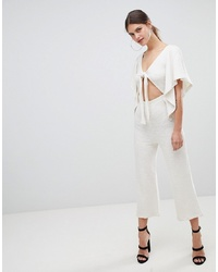 ASOS DESIGN Kimono Jumpsuit With Cut Out And In Jersey
