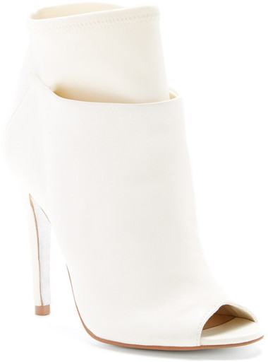 c75721621a ... Leather Ankle Boots Kristin Cavallari By Chinese Laundry Laney Open Toe  Stiletto Bootie ...