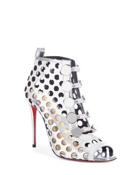 Christian Louboutin Planetarita Perforated Metallic Bootie