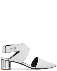 Proenza Schouler Cutout Leather Pumps White
