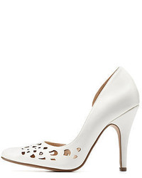 Charlotte Russe Delicious Laser Cut Out Pointed Toe Pumps