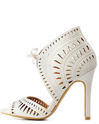 Charlotte Russe Laser Cut Out Lace Up Heels