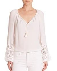 Elie tahari silk peasant blouse medium 1210391
