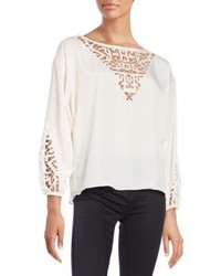 Townsen Embroidered Peasant Blouse
