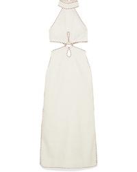 Zimmermann Cutout Med Linen Maxi Dress