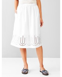 Gap Laser Cut Midi Skirt