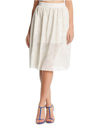 Kiind of perforated faux leather midi skirt medium 254955