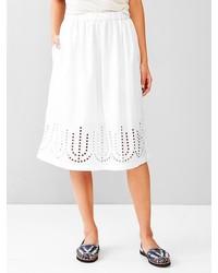 Gap Laser Cut Midi Skirt