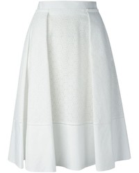 Salvatore Ferragamo Perforated A Line Skirt