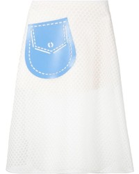 Xiao Li Perforated Skirt With A Pocket Detail