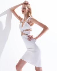 Cushnie Et Ochs Stry Cutout Sheath Dress White