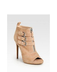 Tabitha Simmons Eva Suede Platform Ankle Boots Rose