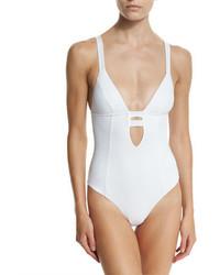 Neutra strappy back one piece swimsuit eco white medium 650999