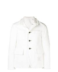 Thom Browne 4 Bar Washed Denim Cutaway Jacket
