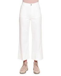 Stella McCartney High Waist Culotte Jeans Pure White